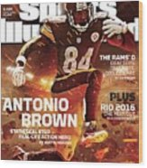 Antonio Brown 2015 Nfl Fantasy Football Preview Issue Sports Illustrated Cover Wood Print