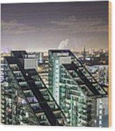 Apartment Buildings Wood Print