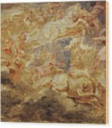 Apollo In The Chariot Of The Sun             Wood Print