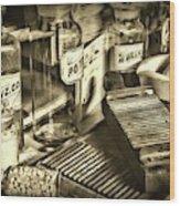 Apothecary-vintage Pill Maker Sepia Wood Print