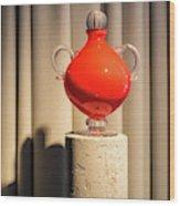Apple Vase Wood Print