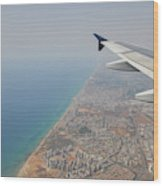 approach to Ben Gurion Airport, Israel w4 Wood Print