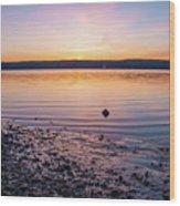 April Dawn On The Hudson River II Wood Print