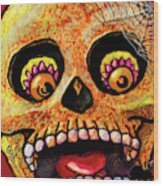 Aranas Sugarskull Of Spiders Wood Print