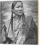 Arapahoe Woman Wood Print
