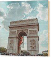 Arc De Triomphe - World Cup 2018 Wood Print