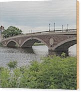 Arch Bridge Over River, Cambridge Wood Print