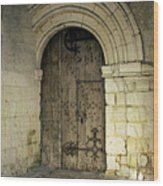 arched door at Fontevraud church Wood Print