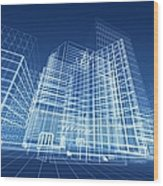 Architectural Blueprint Designs For Wood Print