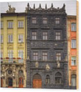 Architecture Of Lvov. Ukraine Wood Print