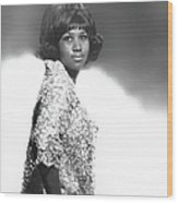 Aretha Franklin Portrait Wood Print