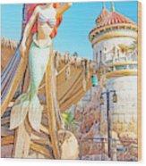 Ariel, The Little Mermaid, Walt Disney World Wood Print
