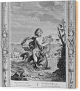Arion Saved By A Dolphin, 1733. Artist Wood Print