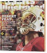 Arizona Cardinals Larry Fitzgerald, 2016 Nfl Football Sports Illustrated Cover Wood Print