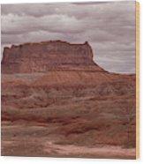 Arizona Red Clay Painted Desert Panoramic View Wood Print