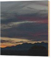Arizona Sunset Panorama Wood Print