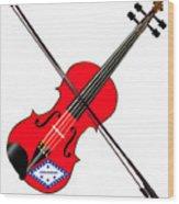 Arkansas State Fiddle Wood Print