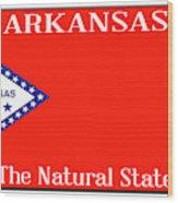Arkansas State License Plate Wood Print