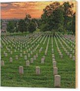 Arlington National Cemetery Sunrise Wood Print
