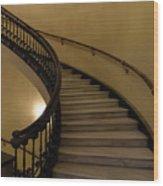 Arlington Spiral Stairs Wood Print