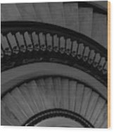Arlington Stairs Layers Grayscale Wood Print