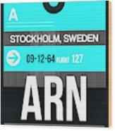 Arn Stockholm Luggage Tag II Wood Print