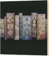 Art Panels - Antique Wallpaper  Wood Print