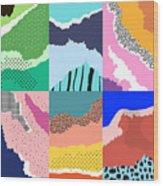 Artistic Background.modern Graphic Wood Print
