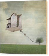 Artistic Image Representing An House Wood Print