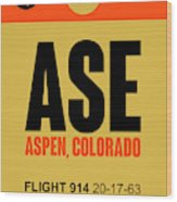 Ase Aspen Luggage Tag I Wood Print