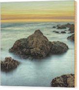 Asilomar Sunset Wood Print