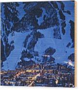 Aspen Mountain, Winter Wood Print