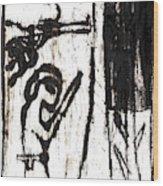 Assassin After Mikhail Larionov Black Oil Painting 10 Wood Print
