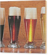 Assorted Beers And Ales Wood Print