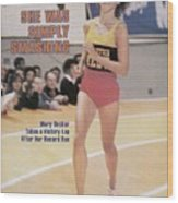 Athletics West Mary Decker, 1980 Millrose Games Sports Illustrated Cover Wood Print