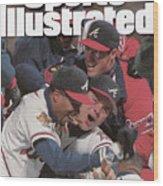 Atlanta Braves, 1995 World Series Sports Illustrated Cover Wood Print