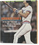 Atlanta Braves Dale Murphy... Sports Illustrated Cover Wood Print
