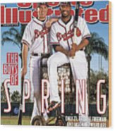 Atlanta Braves Freddie Freeman And Jason Heyward Sports Illustrated Cover Wood Print
