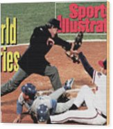 Atlanta Braves John Smoltz, 1992 World Series Sports Illustrated Cover Wood Print