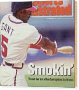 Atlanta Braves Ron Gant... Sports Illustrated Cover Wood Print