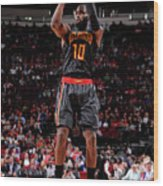 Atlanta Hawks V Houston Rockets Wood Print