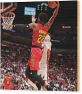 Atlanta Hawks V Miami Heat Wood Print