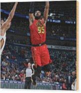 Atlanta Hawks V New Orleans Pelicans Wood Print