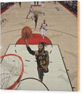 Atlanta Hawks V Portland Trail Blazers Wood Print