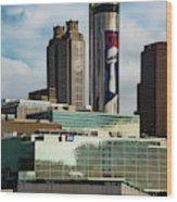 Atlanta Skyline 3 Wood Print