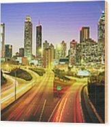 Atlanta Skyline, Georgia, Usa Wood Print