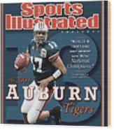 Auburn University Qb Jason Campbell, 2004 Ncaa Perfect Sports Illustrated Cover Wood Print