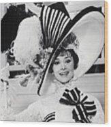 Audrey Hepburn As Eliza Doolittle Wood Print