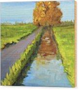 August Landscape Wood Print