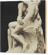 Auguste Rodin The Kiss, 1886 Marble Sculpture Wood Print